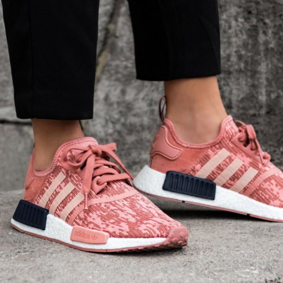 Adidas Nmd R Raw Pink Boost Sneakers Sz
